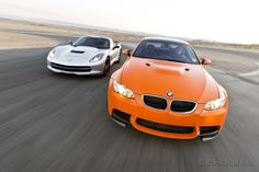 Chevrolet Corvette Stingray VS. BMW's M3. The all-new C7 takes on a departing legend. You've got $70,000, which do you buy?