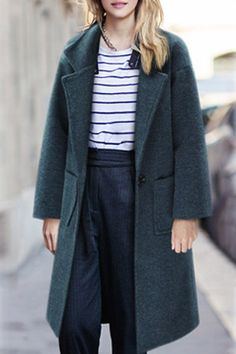 Love this outfit and the dark green coat