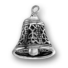 3D Sounding Moveable Clapper Filigree Bell Instrument Charm