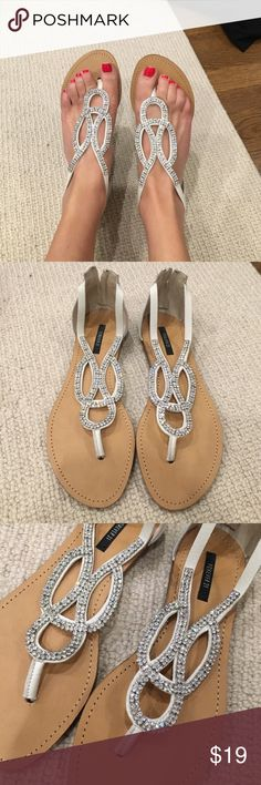 Brand new never worn sparkly sandals Brand new never worn sparkly sandals perfect condition Forever 21 Shoes Sandals