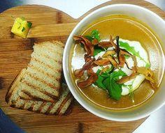 Butternut soup of the day @hertexfabrics #butternutsoup