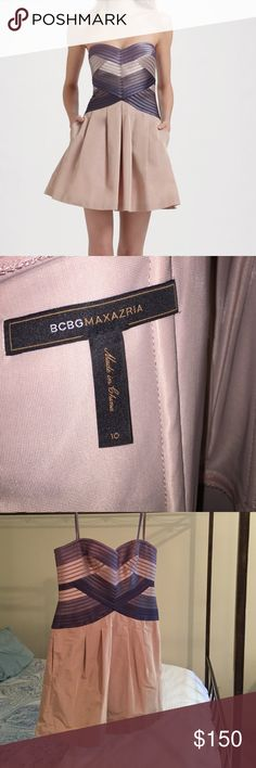 BCBGMaxAzria Hana Cocktail Dress Size 10 Worn once. Great condition. Like new! Size 10. Polyester and Nylon. BCBGMaxAzria Dresses Mini