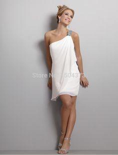 mini curto vestidos de noiva http://www.aliexpress.com/item/New-Beach-Wedding-Dresses-2015-One-Shoulder-Beaded-Short-Bridal-Gowns-Cheap-Vestidos/32263519550.html?tracelog=back_to_detail_a
