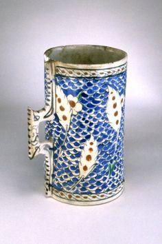 vessel; tankard; Ottoman dynasty; 16thC; Iznik: