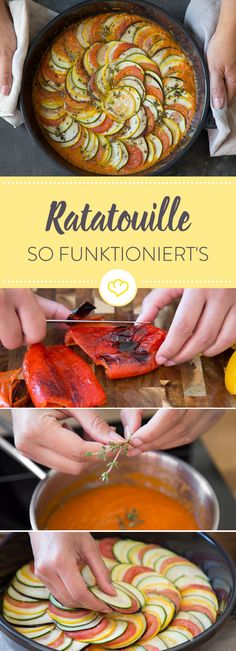 Gemüse, Tomatensauce und Kräuter - eine Ratatouille ist Sommer pur. Erfahre, wie du Original Ratatouille und die Disney-Variante nachkochen kannst.