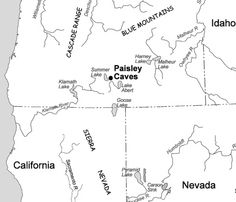 Paisley Caves Oregon one of the sites of earliest evidence of human habitation in North America  above 1300 m altitude. Astrogeographic position for FL2 which characterizes the how the area is embedded in the region: both coordinates are located in solid, conservative earth sign Capricorn sign of mountains, rocks, history, stability, bones, relics. artefacts and indicator of a remote, difficult to access area. field level 2.