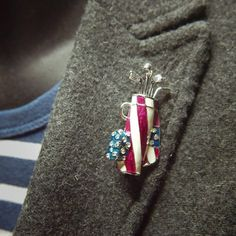 Love Golf? Then you will want this Golf Sport Brooch  #craft365.com