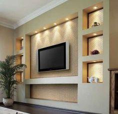 inspiration #décoration #séjour #livingroom #télévision #encastrée #mur #wall