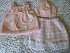 Knitted Newborn Ensemble. Newborn Girl  Suit. Baby Girl by Pitusa