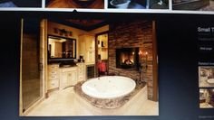 Like how the tub is in the middle of the floor.