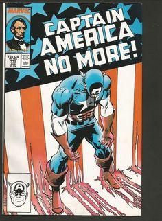 CAPTAIN AMERICA #332 Marvel Comics 1987 1st Print NICE CAPT. AMERICA NO MORE