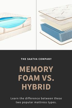 Memory Foam Vs Hybrid Mattress Buyers Guide Saatva In 2020 Memory Foam Memories Foam