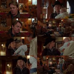 Tim: (Lyndy coos) Hi! Amy: Hey! I'm supposed to be coaching Georgie, I was hoping maybe you could watch Lyndy? Jack: Of course I could. You come and see GG. Amy: Thanks. (11x13)
