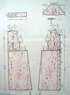 Kids Dress Patterns, Clothing Patterns, Apron Patterns, Japanese Sewing Patterns, Vintage Sewing Patterns, Kids Summer Dresses, Sewing Clothes Women, Sewing Lessons, Collar Pattern