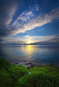 Sunrise on the shore of Lake Michigan. Wisconsin Horizons By Phil Koch. phil-koch.artistwebsites.com
