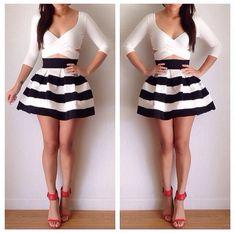 Black & White dress | My Style | Pinterest | Girly, Classy chic ...