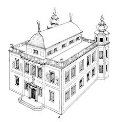 Reconstruction of the Ossoliński Palace in Warsaw by Wojciech Kret, 1965. The palace, later known as the Brühl Palace, was built between 1639-1642 by Lorenzo de Sent for Crown Grand Chancellor Jerzy Ossoliński in Mannerist style. The palace was adorned with sculptures - an allegory of Poland above the main portal, four figures of kings of Poland in the niches and a statue of Minerva crowning the roof. #reconstruction #ossolinskipalace #artinpl #warsaw #17thcenturypalace Warsaw, 17th Century, Poland, Portal, Skiing, Sculptures, Louvre, Crown, Statue