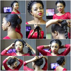 Halo goddess braid pictorial with kanekelon hair from YouTube: Nellz Lioness