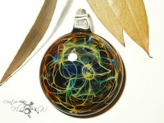 Web Of Life Pendant Glass Art Pendant by CreativeFlowGlass  #glasspendantnecklace #space #universe #jewelry #glassart #boro #flamework #handmade #gift #portal #galaxycluster #pendant #newlook #lightning  HAPPY NEW YEAR!
