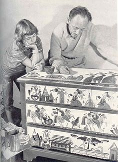 Peter Hunt started painting in 1929.  He gained recognition for his art in the 1940s and 50's, Life magazine.