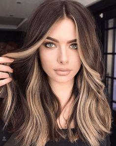 Hair Color Streaks, Hair Color And Cut, Hair Color Ideas, Cute Hair Colors, Hair Streaks Blonde, Hair Colours, Brown Hair Colors, Brown Hair Balayage, Hair Color Balayage