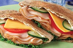 Turkey-Cucumber Pita recipe from kraft - great way to be healthy and shake up your lunch!