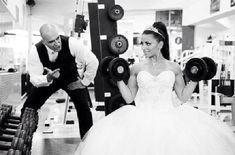Another gym wedding pic. So good!