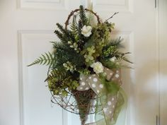 Christmas Door or Wall GRAPEVINE CONE by VintageCreativeAccen, $55.00