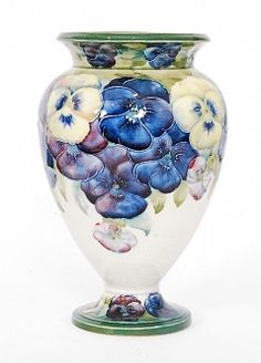 Fieldings Auctioneers | Fine Art, Antiques & Collectables | Stourbridge, West Midlands | Lots William Moorcroft for James Macintyre Pansy pattern vase, circa 1911, height 21 cm
