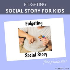 Free printable fidget social story for kids with autism and ADHD Social Skills Activities, Teaching Social Skills, Sensory Activities, Behavioral Analysis, Behavioral Therapy, Autism Facts, Autism Parenting, Parenting Tips, Adhd Strategies