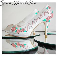 Custom Hand Painted Wedding Shoes by GemmaKenwardShoes on Etsy