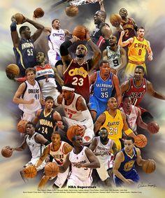 NBA Superstars by Wishum Gregory