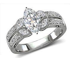 Marquise diamond antique ring