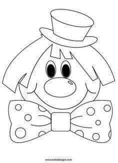 Clown-by-color - Easter Adult Coloring Pages, Coloring Pages For Kids, Coloring Sheets, Coloring Books, Drawing For Kids, Art For Kids, Crafts For Kids, Decoration Cirque, Circus Activities