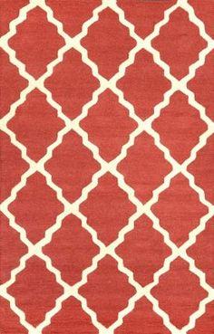 Homespun Moroccan Trellis Purple Rug | Contemporary Rugs