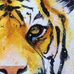 Original tiger artwork by J Knight Art