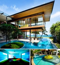 love the room between the pool walls! so cool