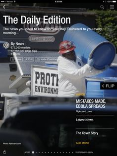 Ebola spreads, Apple announcement coming and HBO's future in today's edition: flip.it/dailyedition