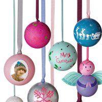 Boules de Noël en polystyrène décoré à la main - Marie Claire Idées
