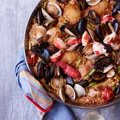 Chicken-and-Seafood Paella   Food