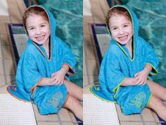 Przytulne Poncho na basen Cuddledry Toddlersi