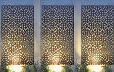 Outdoor Metal Wall Art, Outdoor Walls, Outdoor Living, Outdoor Decorative Screens, Outdoor Wall Panels, Decorative Fence Panels, Decorative Metal Screen, Outdoor Rooms, Outdoor Fun