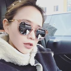 ad209e7baa $12.97 Color: Pink Cat Eye Pink Sunglasses Shades Mirror For Women Pink  Sunglasses, Stylish