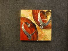 "$225.00    12"" x 12""    handcrafted from recycled sheet metal & mixed media"