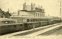 Gare de Berck Plage côté ouest Calais, France, Trains, Miniature, Painting, Train Stations, Electric Train, West Coast, Opal