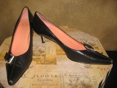 """JOAN & DAVID #210 Size 10 NEW! Black Leather - Take the """"SHOE REVIVAL TRIVIA CHALLENGE!"""" Get 50 FRIENDS to LIKE US by December 31, 2012 and provide the correct answer to this Shoe Trivia question… you can select any footwear at ShoeRevival.com for $10.00! (does not include shipping).     Shoe Trivia! – Who and what year was the first pair of shoes designed? Send answer to customerservice@shoerevival.com"""