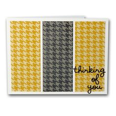 Houndstooth Thinking Of You Card