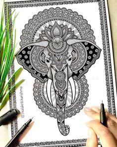 Mandala Art Therapy, Mandala Art Lesson, Mandala Artwork, Mandala Painting, Mandala Book, Butterfly Painting, Ganesha Art, Mandala Design, Tattoos