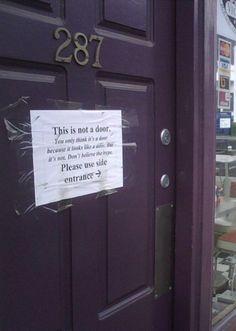 it's not a door