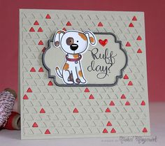 SSS You Are Pawesome Stamp Set, SSS Cat and Dog Pawesome Dies, and the triangle textured background with the new SSS Triangle Border Die.